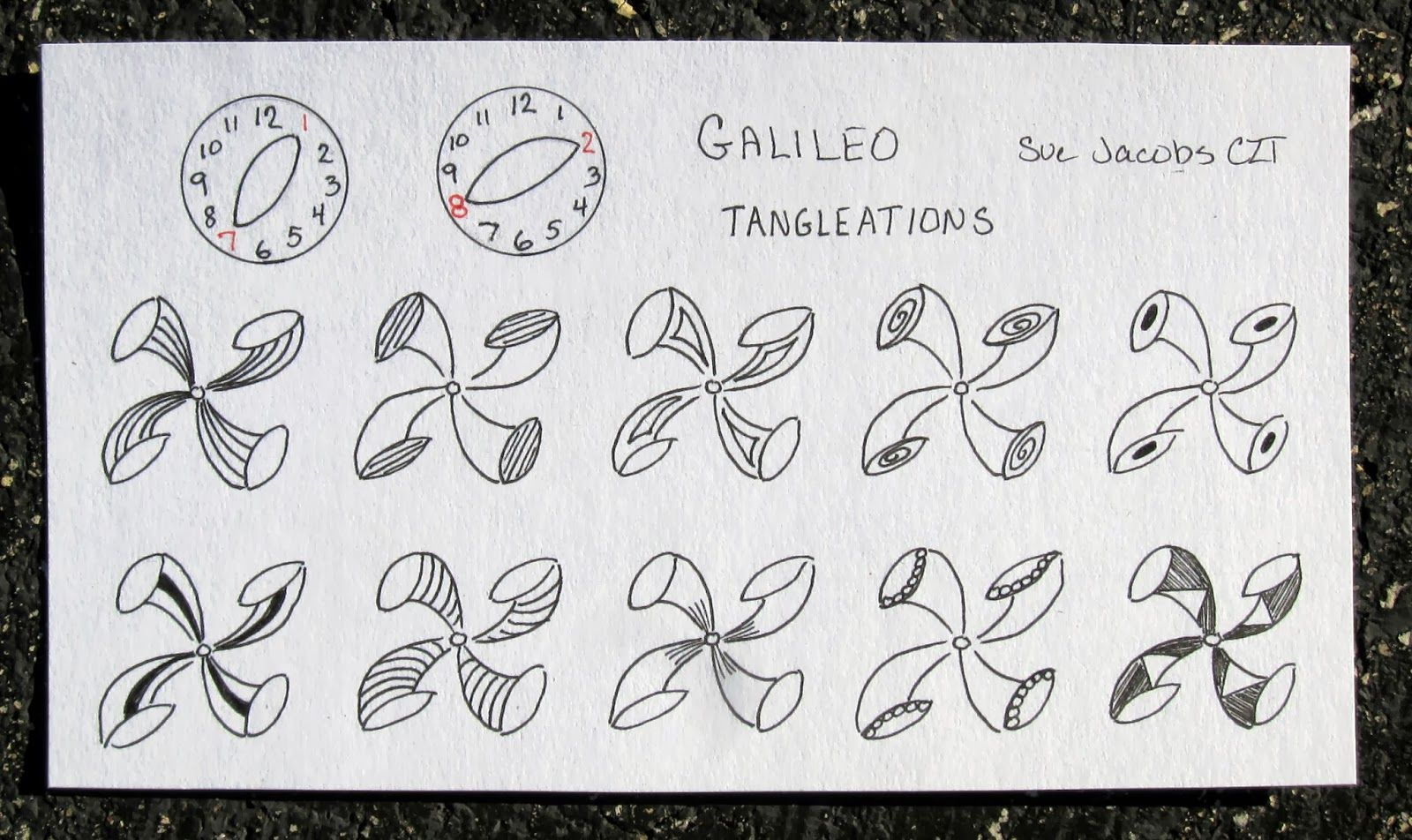 Sue's tangle trips: tangle pattern gallery--Galileo tangleations