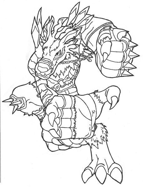 digimon weregarurumon coloring pages-#1