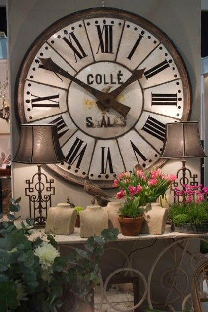 Large French Enamelled Clock Face -christopher-hall-antiques ...