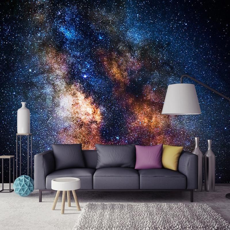 Custom Wallpaper Mural Beautiful Galaxy Stars Custom Photo Wallpaper Home Mural Wallpaper