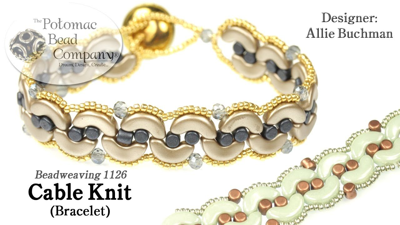 Cable knit bracelet tutorial jewelry pinterest knitted cable knit bracelet free tutorial from potomac beads company bankloansurffo Images
