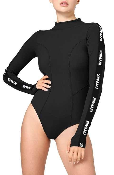 IVY PARK® Elastic Logo Sleeve Bodysuit  31b6f5d14
