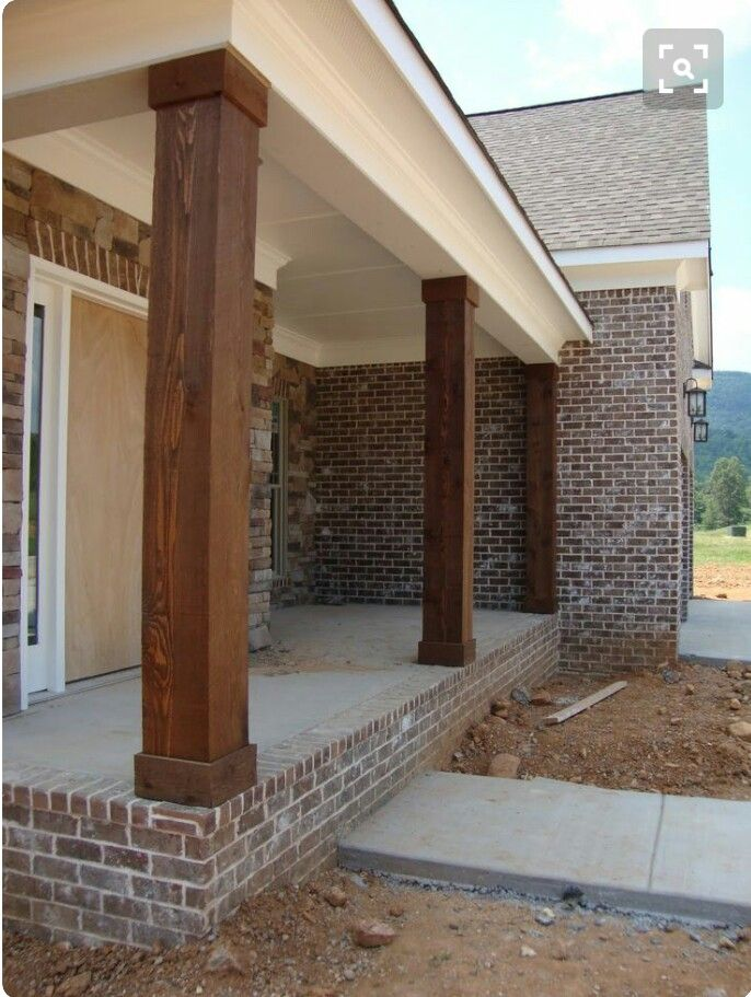 Warp The Existing Posts On The Front Porch House Exterior Porch Columns Front Porch Columns