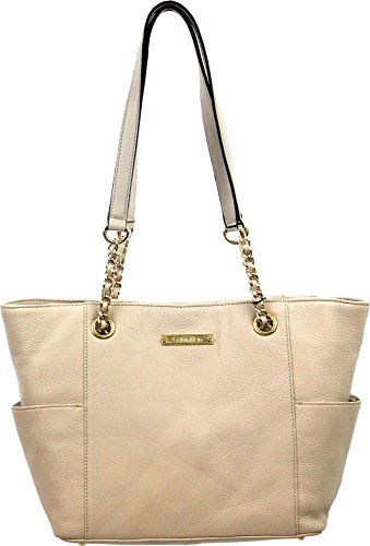 Calvin Klein Key Item Side Pocket Tote In Ivory Be Sure To Check Out This Awesome Product Com Imagens