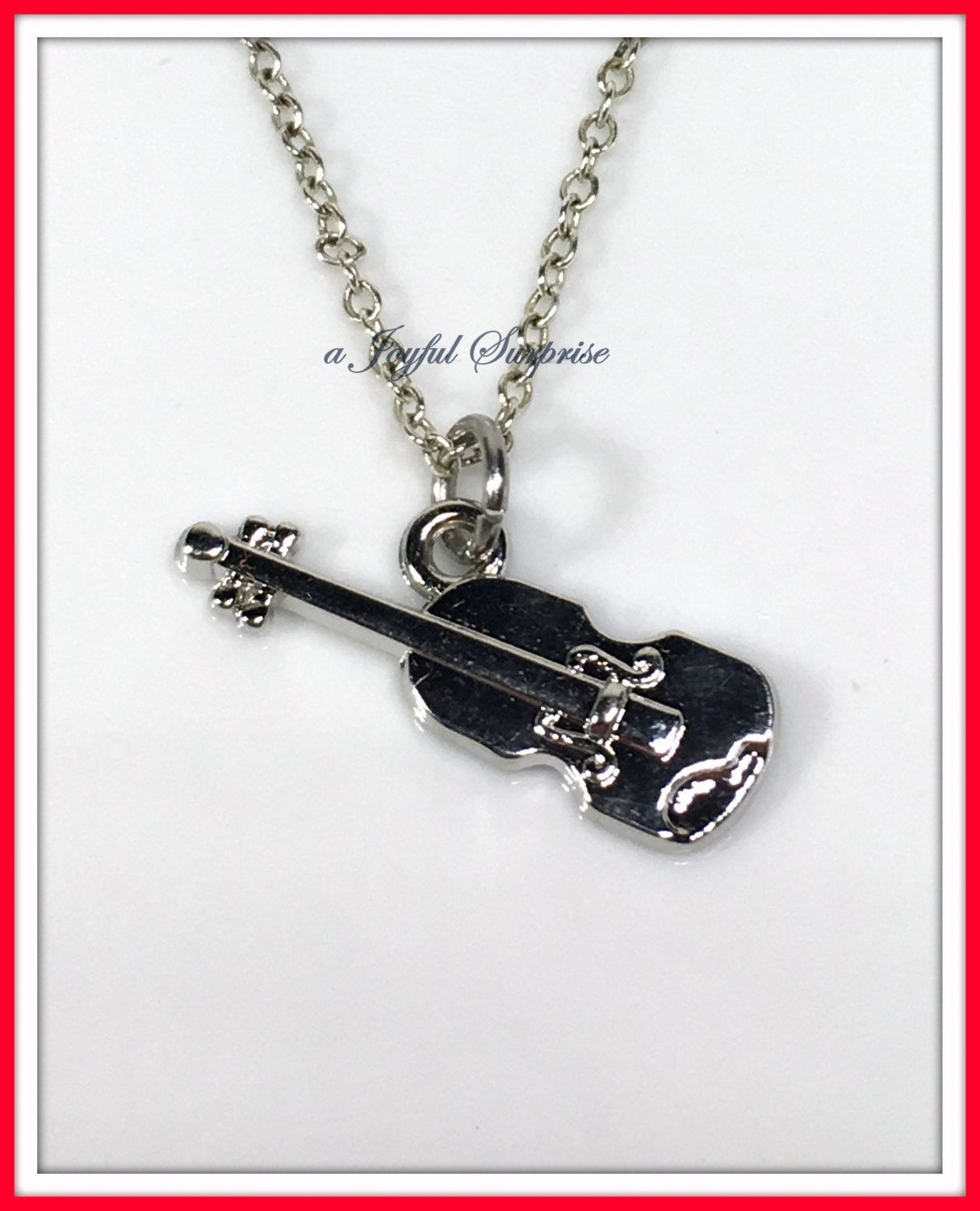Violin Pendant Necklace Violin Necklace Musician Gifts Gift for Music Teacher Silver Violin Necklace Musical Instrument Necklace