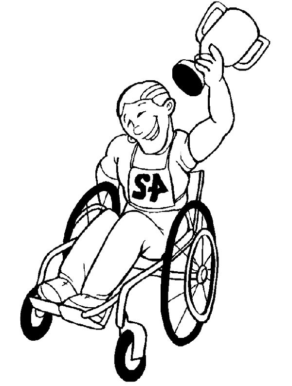 Disabilities Who Raced The Disabled Children Coloring