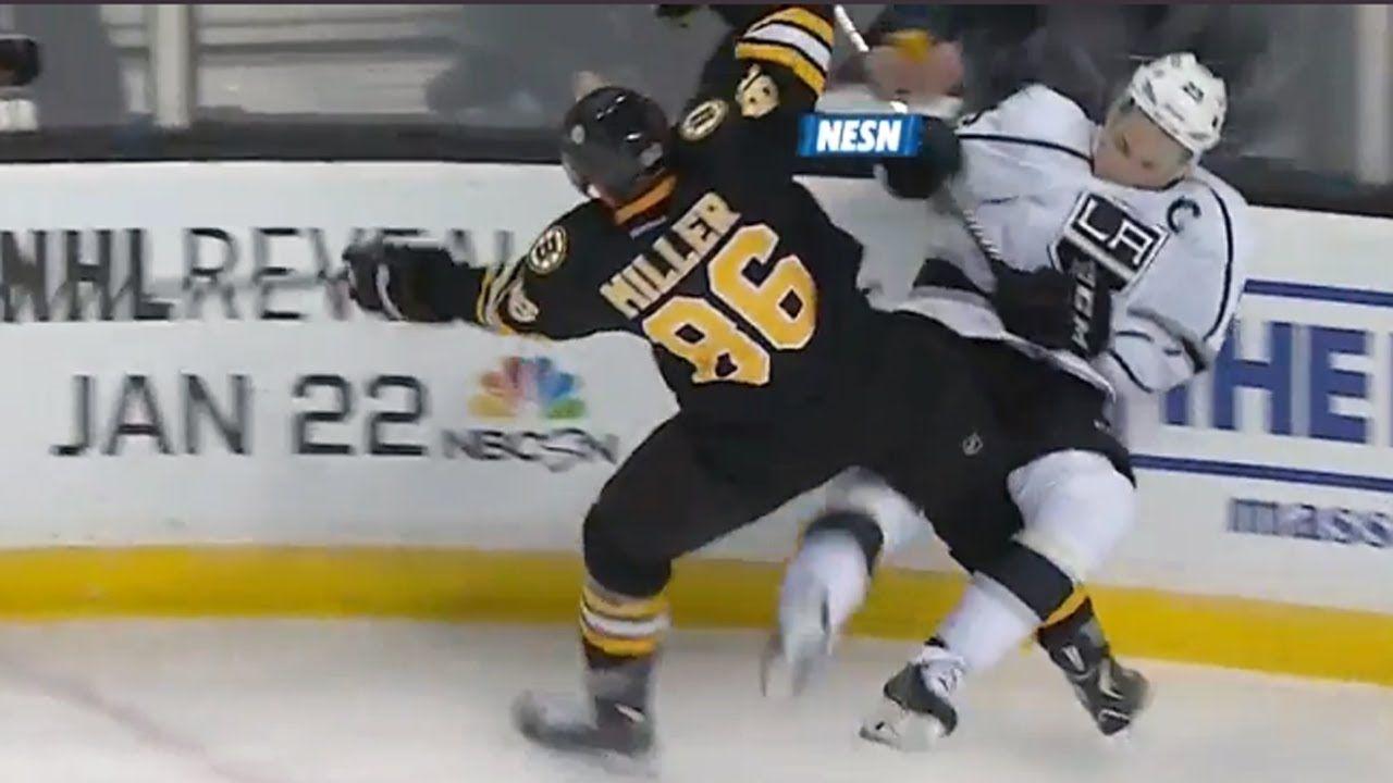 Kevan Miller crushes Dustin Brown La kings, Boston