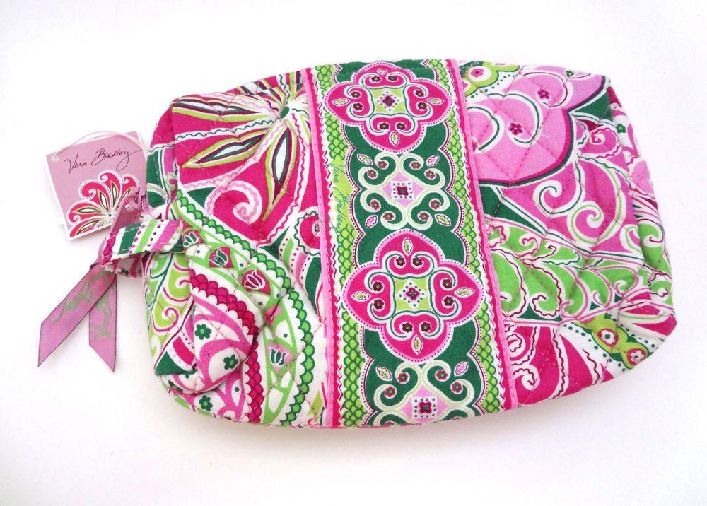 Vera Bradley Pinwheel Pink Medium Cosmetic Bag Makeup