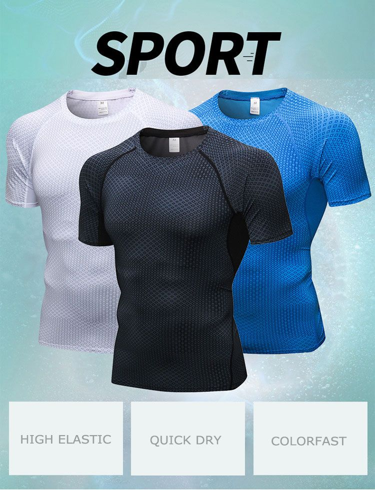 5841a22da6 Men's Fitness Short Sleeves T-shirt Running training 3D Printed Quick  Drying Tight Fitting Clothes - todyMall.com - A shop online has different  categories ...