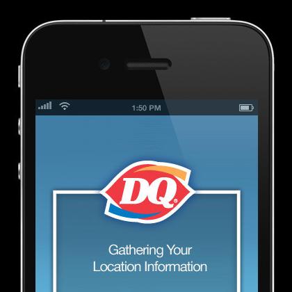 Dairy Queen App, iPhone app design Iphone