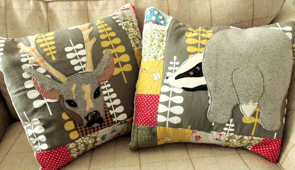 woodland creatures sewing pattern | Woodland Animals Cushion Covers ...