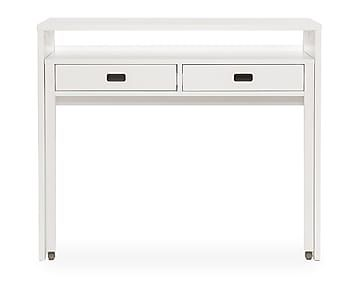 Uitschuifbaar bureau Tordis, wit, L 104 cm