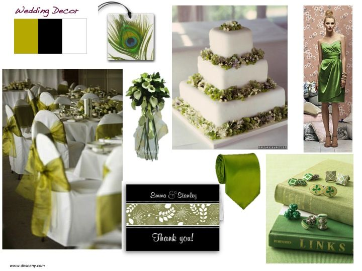 Olive Green Black White This Wedding Color Palette Oozes With Sophistication