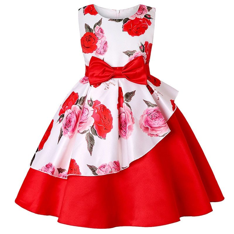 Todaies Toddler Baby Girls Dresses,Kids Floral Midi Casual Princess Party Clothes