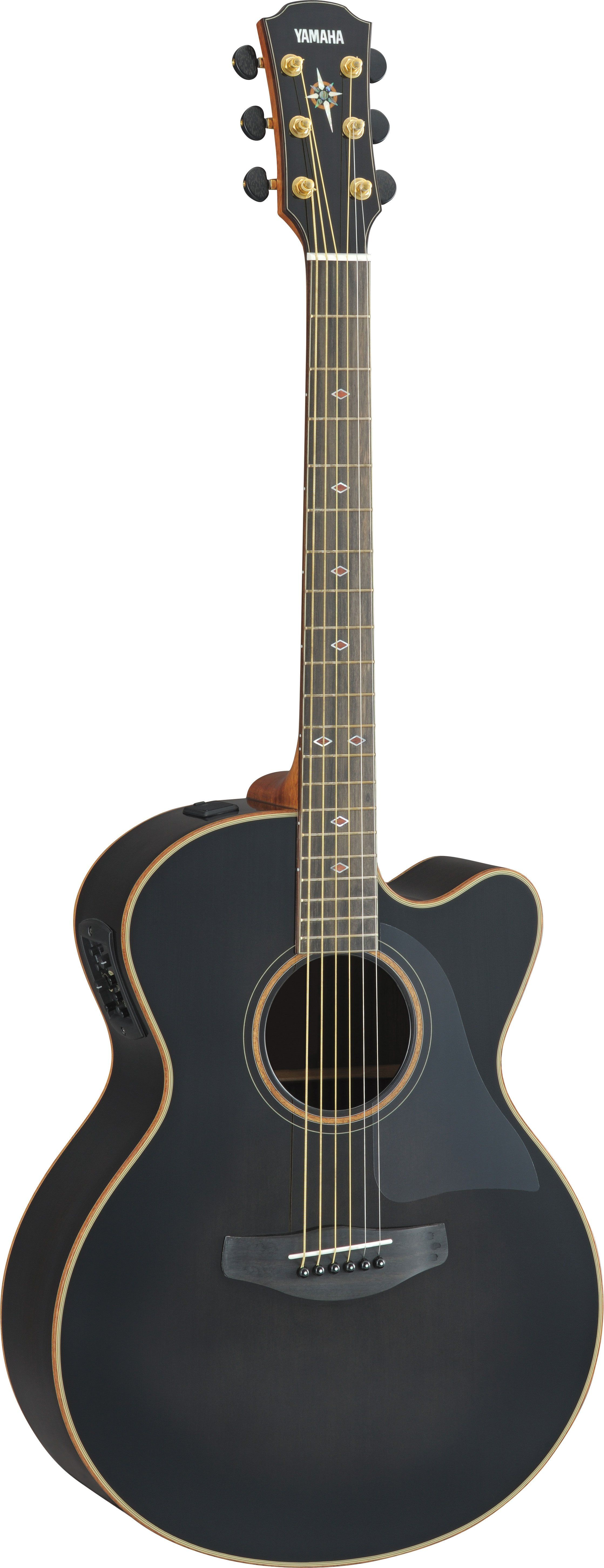 Acoustic Guitar Cpx Cpx1200ii Translucent Black Yamaha Guitar Yamaha Guitars Acoustic Acoustic Guitar