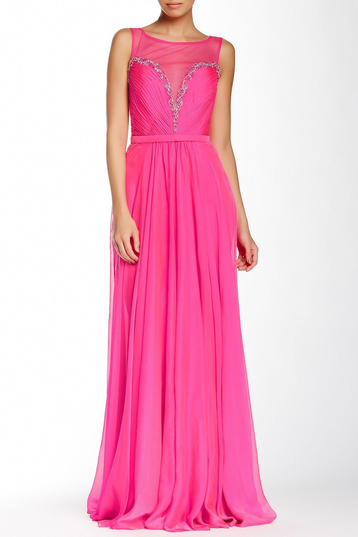 Hot Pink La Femme Beaded Bodice Gown | Looks We Love | Pinterest ...
