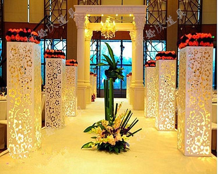 Wholesale Wedding Supplies Hollow Out Pillar Without Light Wedding