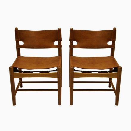 Modell 3237 Stühle von Borge Mogensen für Fredericia, 2er Set Jetzt - stühle für die küche