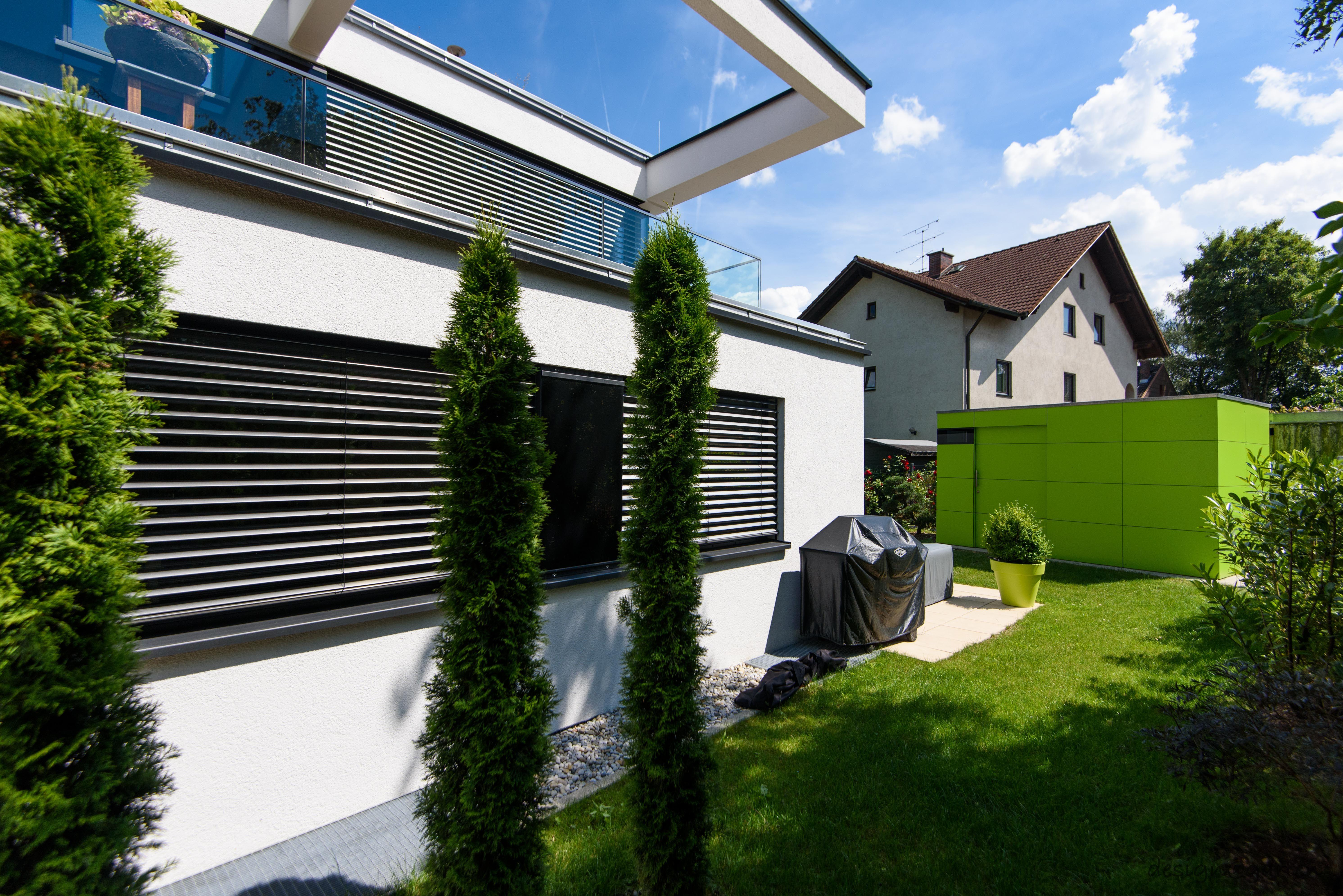 Gartenhäuser Flachdach Modern design gartenhaus fahrradhaus gart drei lime green niemals