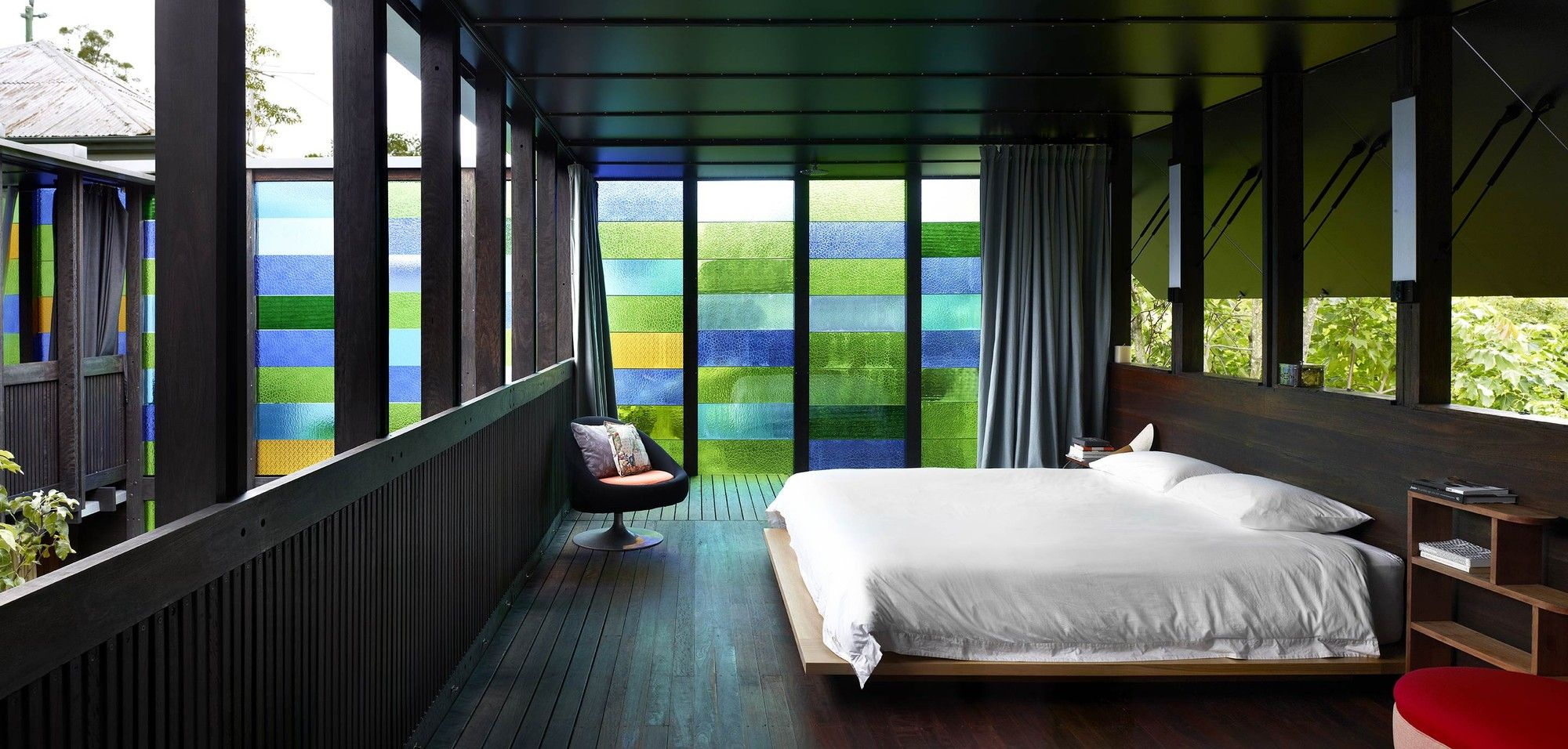 Gallery Of Raven Street House / James Russell Architect   7. RavensColored  GlassBedroom IdeasDesign ...