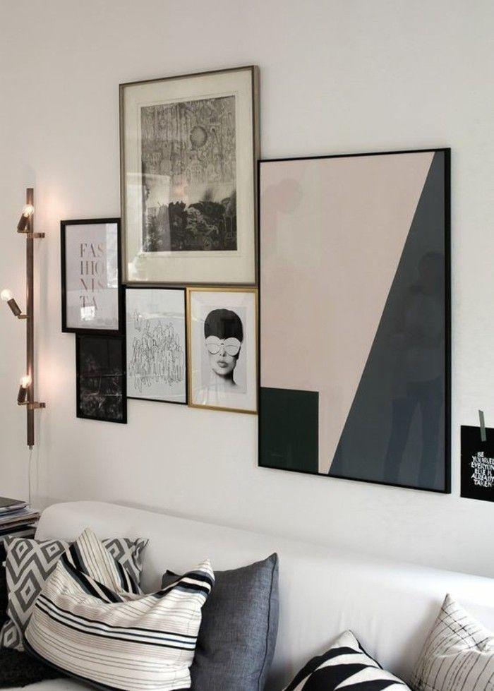 Interessante Moderne Wohnzimmer Wandgestaltung Viele Bilder An Der Wand
