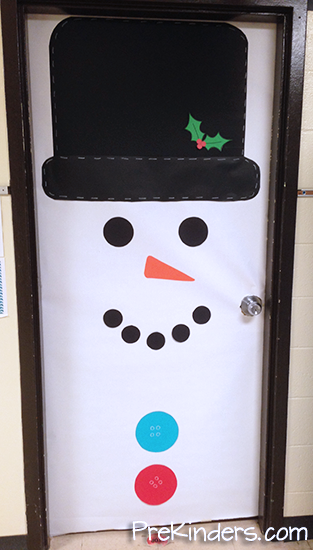 White Christmas Classroom Decorations ~ Christmas candy cane estimation snowman door