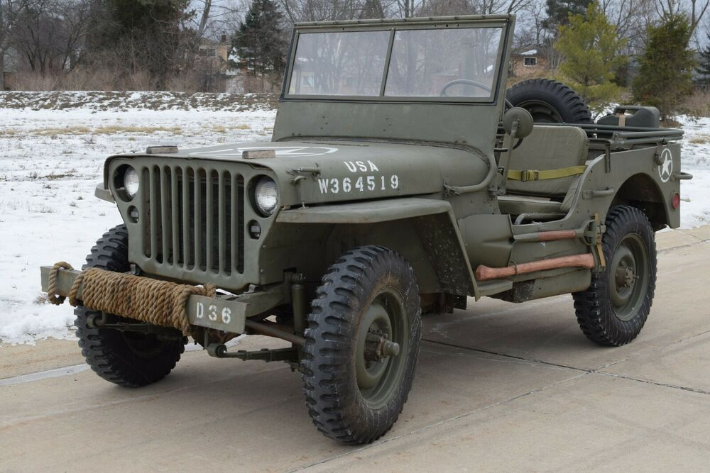 For Sale Is An Original 1944 Willys Mb Jeep Clear Title Made On August 22 1944 First Of All I Am Sorry For The Bad Quality Photo Willys Mb Willys Old Jeep