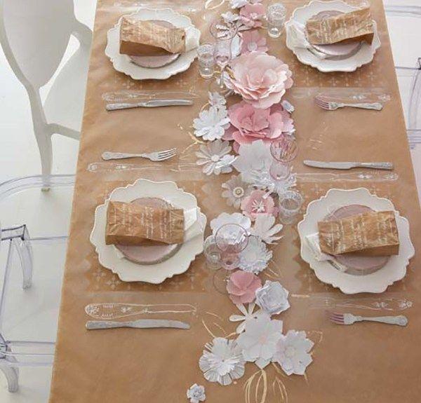 Manteles de papel kraft para fiestas ale and origami - Manteles para mesa ...