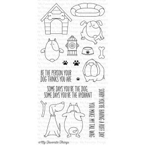 BB You Make My Tail Wag stamp set by MFT