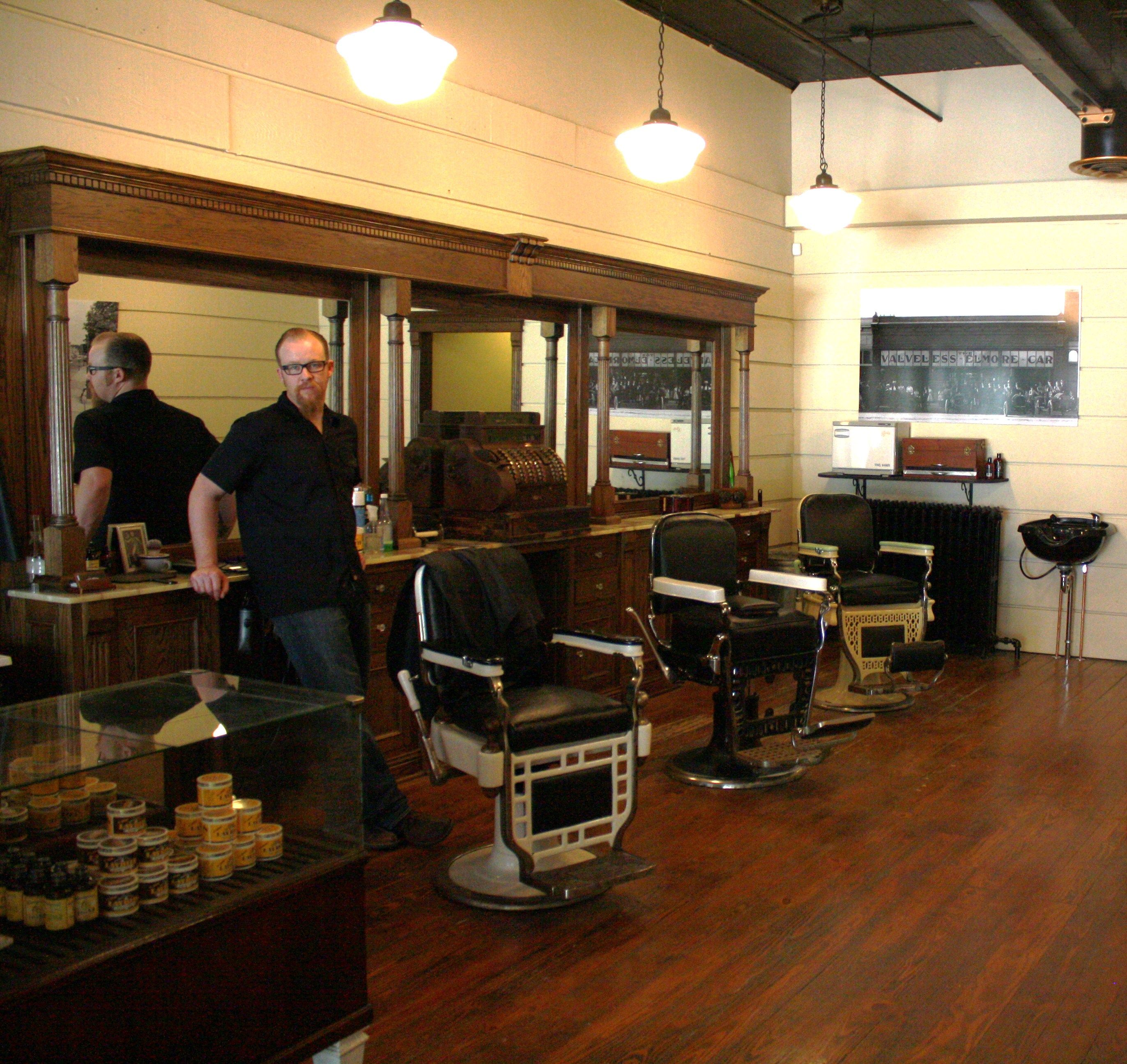 traditional barbershop opens across from courthouse in downtown laporte barbershop pinterest. Black Bedroom Furniture Sets. Home Design Ideas