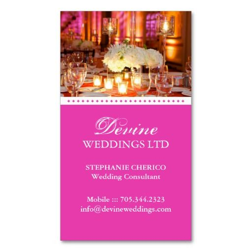 Wedding planner business card business pinterest wedding wedding planner business card colourmoves