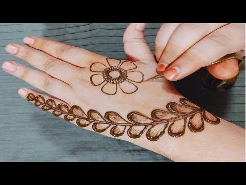 Mehndi Design Back Hand Simple And Easy