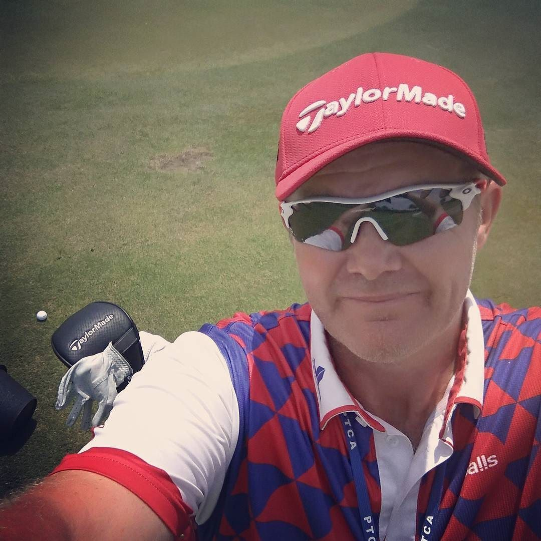 Customary pro am day selfie even though we weren't playing . Ready for the off tomorrow at 1250 local time  #golf #golfcaddie #ptca #asiantour