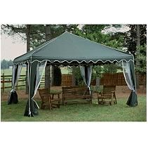 Garden Party Gazebo Green 13 X 13 Canopy Outdoor Backyard Gazebo Gazebo