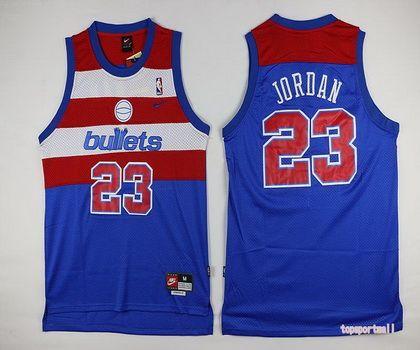 best service 063e2 3182b NBA Chicago Bulls 23 Michael Jordan Blue Red Number ...