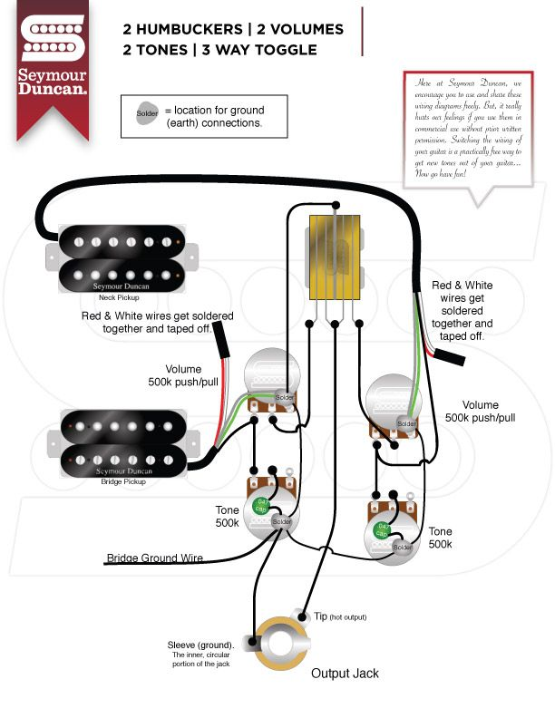 [TVPR_3874]  Wiring Diagrams - Seymour Duncan | Guitar pickups, Luthier guitar, Guitar  diy | Les Paul Wiring Diagram Duncan |  | Pinterest
