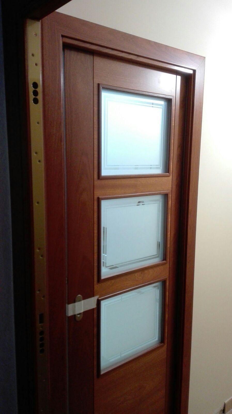 Puerta Modelo Rubi Sapelly Rameado Vidrieras Con Cristal Con  ~ Puertas Correderas Para Vestidores