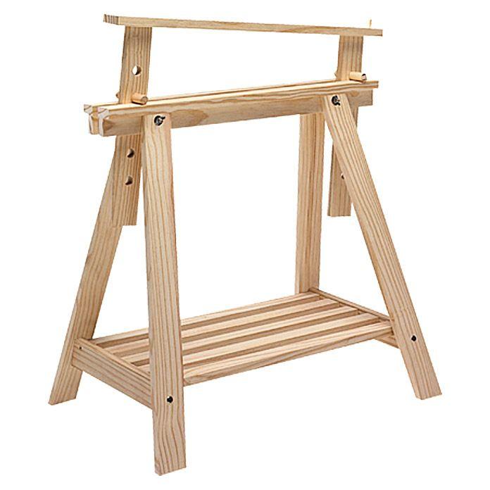 Holzbock Architekt Tragkraft 400 Kg Bei 2 Holzbocken Hohe 70 Cm Kiefer Natur Holzbock Holz Sagebock