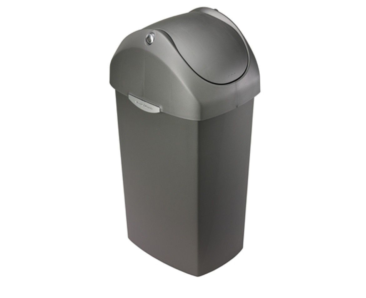 Simplehuman | 60L Swing Lid Grey Plastic Trash Can