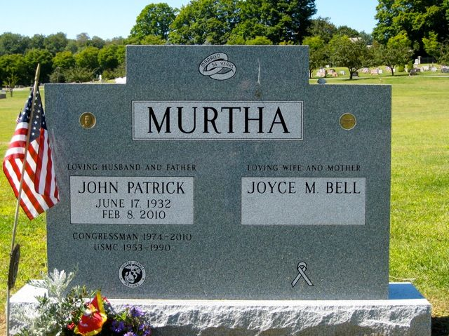 John Patrick Murtha, Jr (1932 - 2010) American politician from the U.S. state of Pennsylvania. Murtha, a Democrat, represented Pennsylvania's 12th congressional district in the United States House of Representatives from 1974 until his death in 2010.