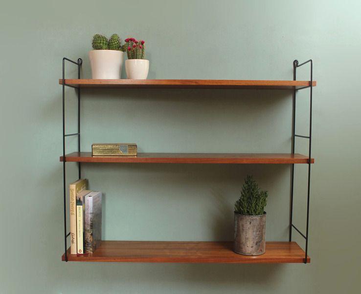 Regalsystem Wohnzimmer ~ Regalsystem wohnzimmer individueller stauraum string shelf