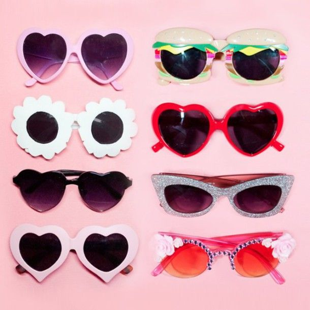 08342a6125 sunglasses pink blue green yellow cute vintage pink bedazzled glasses  flowers retro sunglasses heart sunglasses