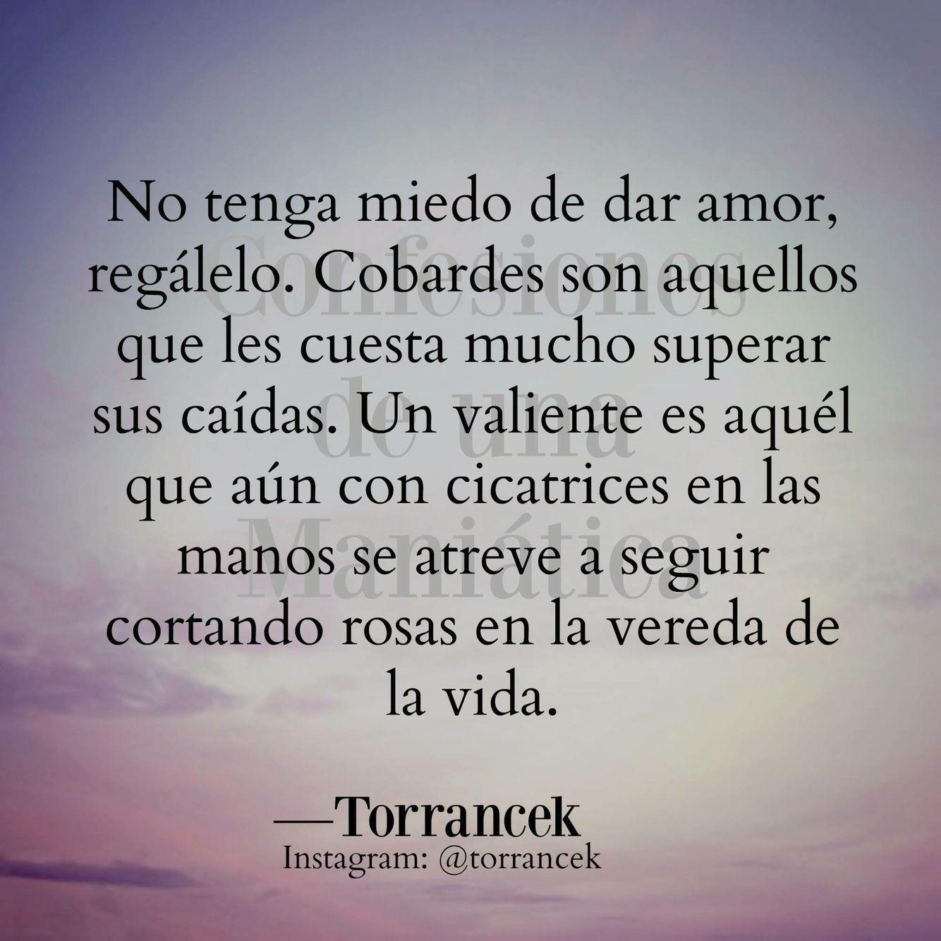 No Tengas Miedo Del Amor Frases Bonitas Frases Y Palabras