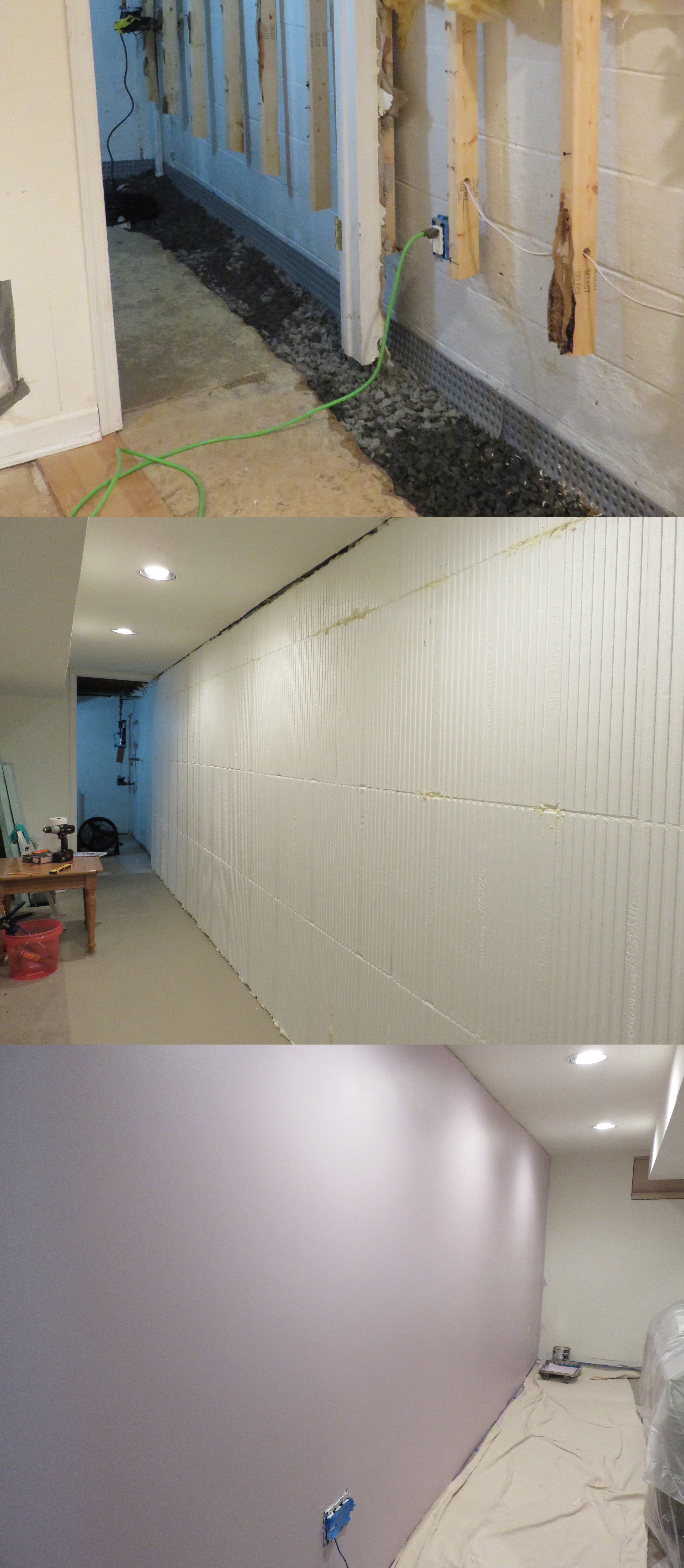 Three Stages Of An InSoFast Basement Renovation Project. Insulating Your  Basement Doesnu0027t Have