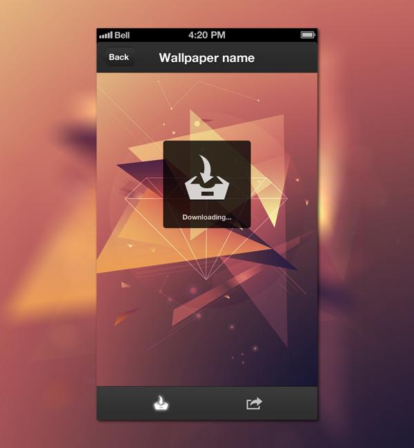 Wallpaper App By Zsolt Jakab Via Behanceshopping