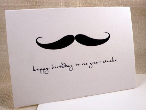Handle Bar Mustache Birthday Card Todes Me Pinterest Mustache