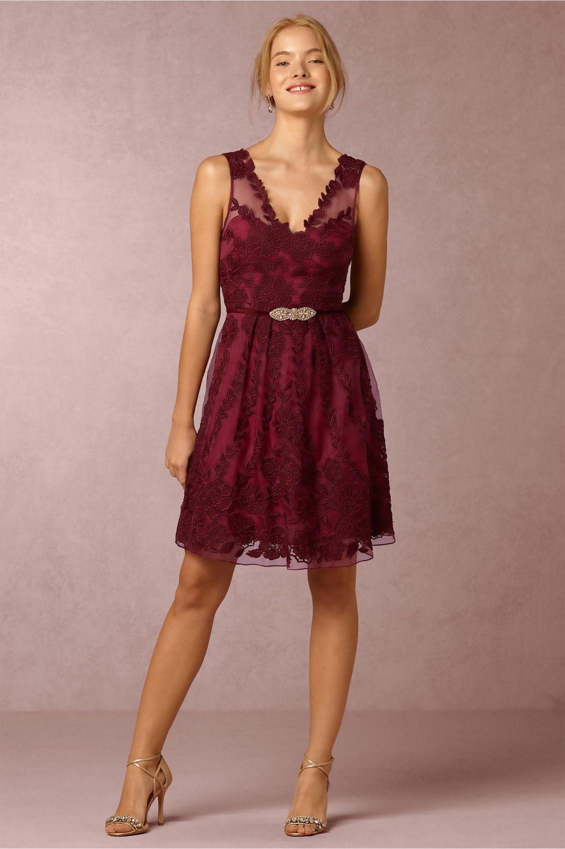 Short maids option ersalina dress in black cherry from bhldn short maids option ersalina dress in black cherry from bhldn ombrellifo Images