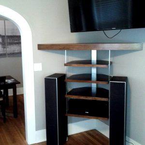 Custom Corner Shelves