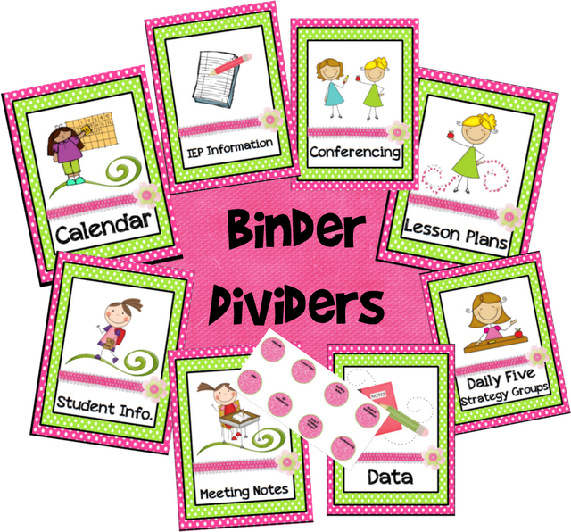 Teacher Binder/Calendar Freebies!