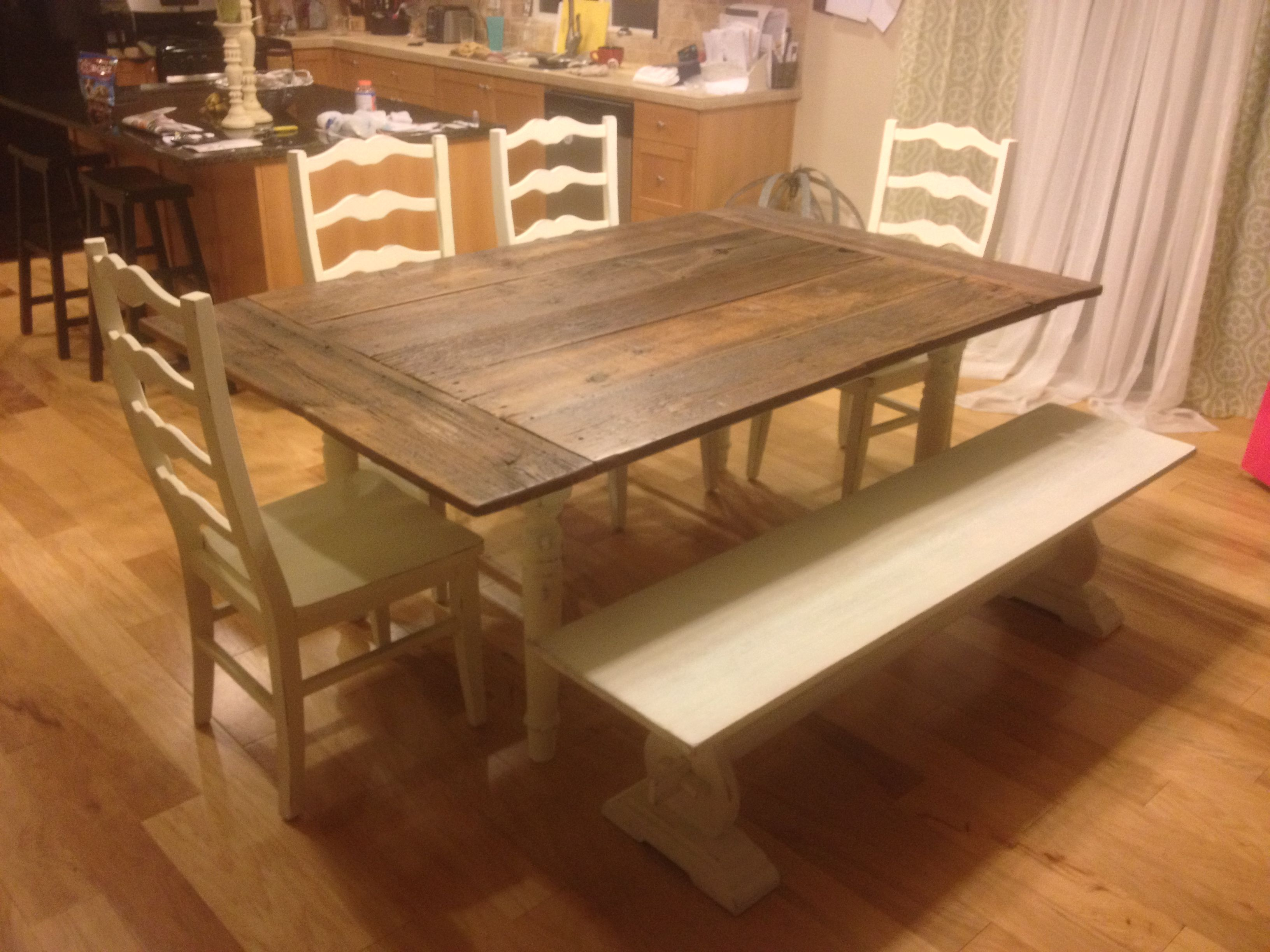 This Is A Custom Made Dining Table Made From A Century Old